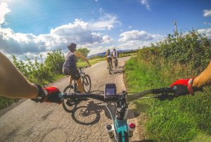 Mountain Bike: on a road in Tuscany